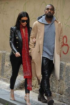 Kim Kardashian out with Kanye West in Prague during their honeymoon. 2014