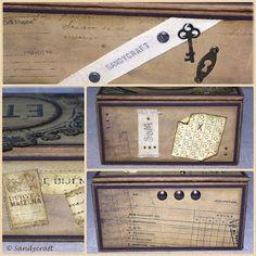 Sandy-Craft Mixed Media, Crafts, Hanging Wallpaper, Boxing, Packaging, Repurpose, Creative, Manualidades, Mixed Media Art