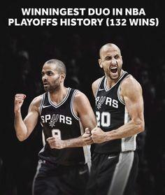 bdc692384a4 Spurs Manu Ginobili  amp  Tony Parker. Winniest Duo in NBA HISTORY with 132  Wins · San Antonio ...
