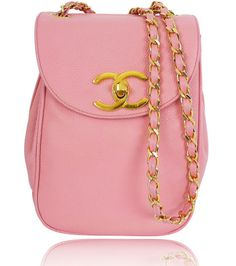 Chanel Vintage Pink Caviar Cross Body Pochette Shoulder Bag