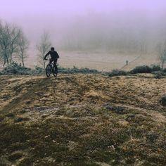 Misty november MTB-Ride in Garderen (Veluwe-The Netherlands)