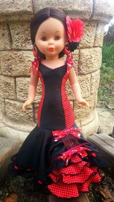 Nancy flamenca Baby Blanket Crochet, Crochet Baby, Pram Toys, Nancy Doll, Flamenco Dancers, Rapunzel, Girl Dolls, American Girl, Baby Car Seats
