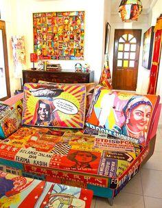 Gypsy themed  artwork...No doubt, I would be loving to have Ketna Patel's chairs, sofas ...
