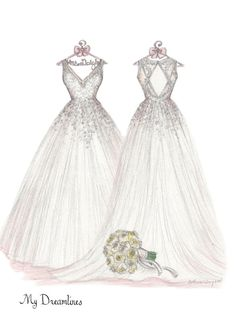 handcrafted wedding dress sketches make the best gift for wife. A customized sketch of her dress she has been dreaming of since she was a little girl. Perfect Gift For Her, Gifts For Her, Wedding Dress Drawings, Mother Pictures, Wedding Ring For Her, Anniversary Gift For Her, Paper Anniversary, Fashion Sketches, Fashion Drawings