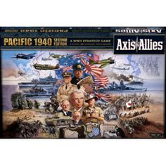 Includes new ANZAC miniatures as well  as new mechanized infantry, and antiaircraft artillery. Axis & Allies Pacific 1940 can be combined with Axis & Allies Europe 1940 to create the greatest Axis & Allies experience to date! Same great game as the last version of  Pacific 1940, including the extra large 35&733;  x 32&733; game board for a greater play  experience. Both game boards unite to create a massive 70'' x 32'' playing field that will let you experience the full scale of World War II…