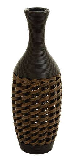 Asian Vase Wicker Vase Jungalow Tall Vase by ShopMidCenturyModest    Boho  Home Decor for Sale    Pinterest   Asian vases, Eclectic decor and Tall  vases