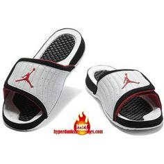 37c070ba25728 Cheap Jordan Hydro 14 Premier Submit White Black Red Sandals Cool Jordans