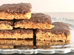 Glutenfria havrerutor med choklad | Glutenfria godsaker Lactose Free Desserts, Gluten Free Cakes, Dessert Drinks, Dessert Recipes, Bagan, Foods With Gluten, Piece Of Cakes, Healthy Sweets, Sweet And Salty