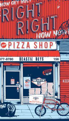Beastie Boys Illustration by Timba Smits Comics Illustration, Gravure Illustration, Graphic Design Illustration, Digital Illustration, Graphic Art, Retro Illustrations, House Illustration, Web Design, Design Art