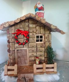 Christmas Village Made From Corks and Cardboard