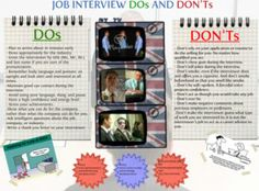 Interview Dos  Don'ts : http://www.glogster.com/sashajamm/job-interview-dos-and-don-ts/g-6lu308bje2qeoa4mcs7q4a0