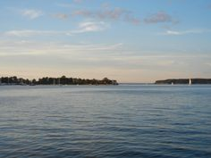 Looking out to Centre Island and Lloyd Neck from Oyster Bay.