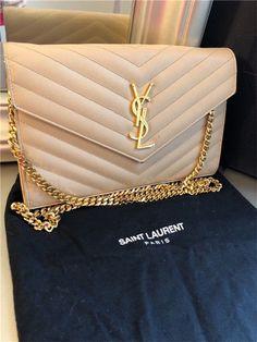 Extra Off Coupon So Cheap Authentic New ysl Yves Saint Laurent MONOGRAM beige handbag shoulder bag Chanel Handbags, Fashion Handbags, Purses And Handbags, Fashion Bags, Luxury Purses, Luxury Bags, Luxury Handbags, Yves Saint Laurent, Ysl Wallet On Chain