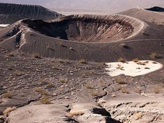 The Ubehebe Crater in Death Valley