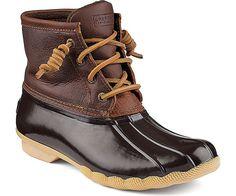 Sperry Women's Saltwater Boot Tan/Dark Brown
