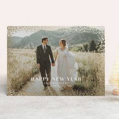 """""""beauchamps"""" - Foil-pressed Holiday Cards in Snow by Paper Dahlia. Company Christmas Cards, Christmas Cards To Make, Holiday Photo Cards, Retro Christmas, Handmade Christmas, Paper Dahlia, Foil Stamping, Card Making, Snow"""