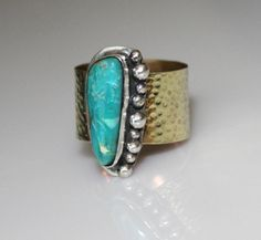 mixed metals make turquoise pop!