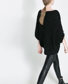 MOHAIR OVERSIZE SWEATER from Zara