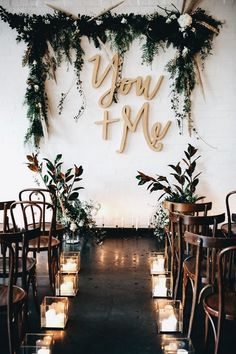 metallic wedding inspiration at Gather Tailor warehouse West Melbourne wedding backdrop Wedding Ceremony Decorations, Wedding Bells, Wedding Flowers, Ceremony Backdrop, Backdrop Ideas, Wedding Backdrops, Wedding Venues, Wedding Greenery, Outdoor Ceremony