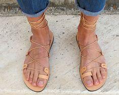 Men Leather Sandals Fully Customizable. от GreekChicHandmades