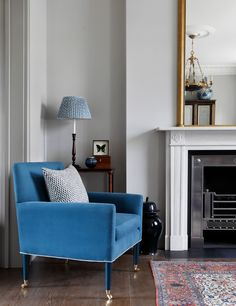 If you're scared of 'colour', go gently & let it lead the way. Salvesen Graham - House & Garden, The List Big Comfy Chair, Round Sofa, Rich Home, Dining Chair Slipcovers, Interior Design Companies, New Living Room, Living Room Inspiration, Decorating Your Home, Decorating Ideas