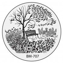 Bundle Monster Nail Stamping Plate 2015 Secret Garden Collection - BM707: First Date