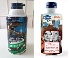 Instead of limited edition dinosaur Barbasol cans, maybe they should have a limited edition Dali can instead.