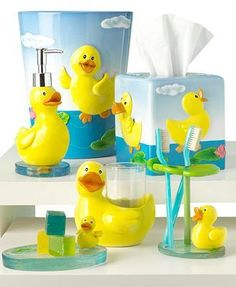 Rubber ducky toilet seat round acrylic duck pattern for Rubber ducky bathroom ideas
