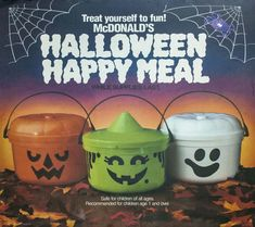 McDonald's Halloween Happy Meal came with an awesome trick or treat bucket