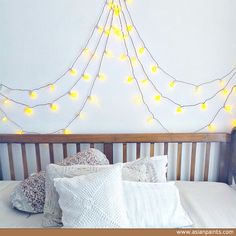 Need an update to your bedroom? Simply stick fairy lights or Diwali lights on the wall with a mask tape in a shape you want.