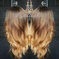 Nothing like a little fall balayage! #Angeladoeshair #shampoodollssalon #redkenflashlift #redkenfreehand #oregonstylist #pravana #balayage #cottagegrovestylist #longhairdontcare #pnw #longlayers #blondeandbrown #eugenestylist #olaplex #nofilters #newlook #makeover