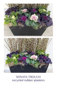 Rubber Material, Recycled Rubber, Timeless Design, Recycling, Planters, Seasons, Seasons Of The Year, Plant, Window Boxes