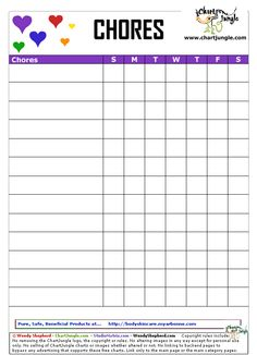 allowance chart template - 1000 images about ideas for the house on pinterest