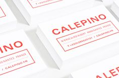 Business card for French notebook manufacturer Calepino designed by Studio Birdsall