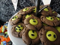 Bats over the moon cookies~              By worth pinning, chocolate, green