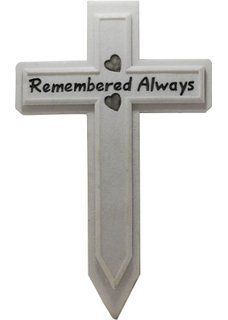 Wooden Memorial Marker Cross and Grave Marker - With Beautiful ...