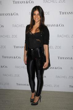 Julia Restoin Roitfeld in a lace top leggings Black Outfits, Cute Outfits, Julia Restoin Roitfeld, Tops For Leggings, Celeb Style, Party Looks, Rachel Zoe, Celebs, Celebrities