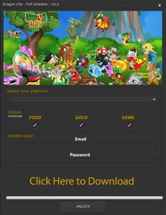 Dragon City Hack (No Survey) - http://dragoncitygamesonline.com/dragon-city-hacks/ Get unlimited gold, food and gems easily! Free cheats and hacks for games! Dragon city hacks for free!