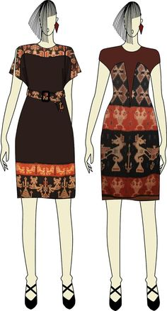 Skirt outfits indian blouses 41 Ideas for 2019 Blouse Batik, Batik Dress, Blouse Dress, Sewing Blouses, Batik Fashion, Indian Blouse, Dress Sketches, Moda Vintage, Blouse Vintage