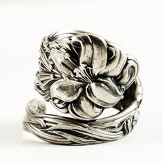 Stargazer Lily Spoon Ring Lovely Frontenac Victorian by Spoonier