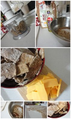 Spent grain crackers (that taste remarkably like wheat thins!)