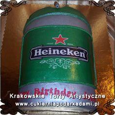 094. Tort beczka piwa Heineken. A barrel of beer Heineken cake.