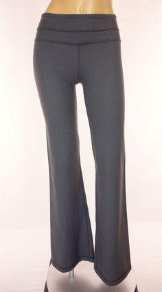 LULULEMON Groove Pants Size 2 XS Extra Small Gray Denim Flare #Lululemon #PantsTightsLeggings