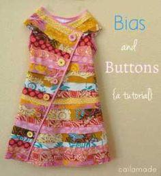 bias buttons dress pattern