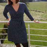 View details for the pattern Hope Wrap Dress on BurdaStyle.