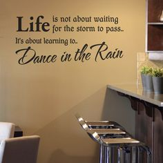 if i have a dance room in my future house, this quote will be on a wall that doesn't have a mirror.