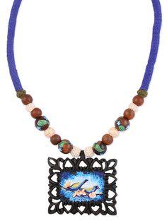 Buy Zri Handpainted multicoloured beaded neckpiece Online, , LimeRoad