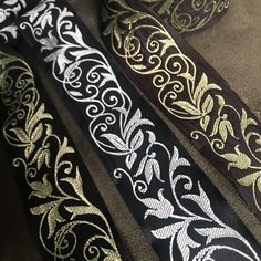 Fae Vine Fabric Trim 1 inch reversible Trim by the Yard – celtictrims Sewing Trim, Burgundy And Gold, Color Combinations, Different Colors, Celtic, Vines, Floral Design, Yard, Fabric
