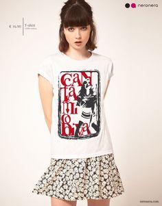 #fashion #neronera #tshirt #woman http://www.neronera.com/info/graphic-design/store/cantami-o-diva