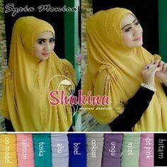Hijab Instan Syar'i Monica Model 2017 Terbaru Harga Murah dihiasi Lipit dibagian kepala dan pita yang melekat dibagian kiri kanan bahu Ket : jilbab syari